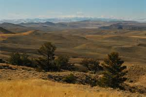 ... Photo of The Wind River Mountains from Beaver Rim near Lander, Wyoming